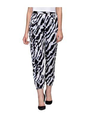 Black & White Animal Print Pants