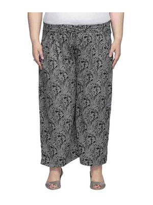 Printed Trouser With Tie Up At The Waist