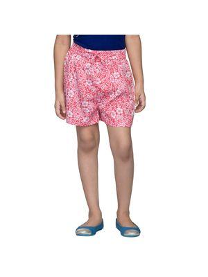 Girls Pink Floral Shorts
