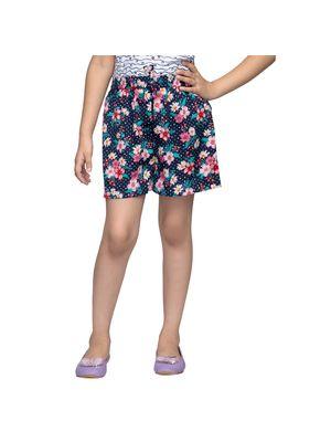 Girls Multicolor Floral Shorts