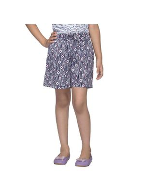 Girls Multicolor Printed Shorts