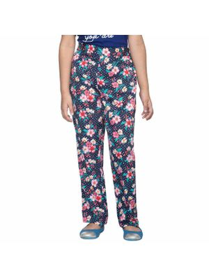 Girls Multicolor Floral Trousers