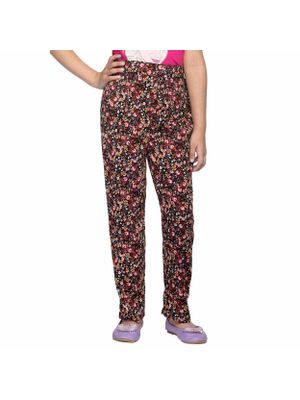 Girls Multicolor Printed Trousers