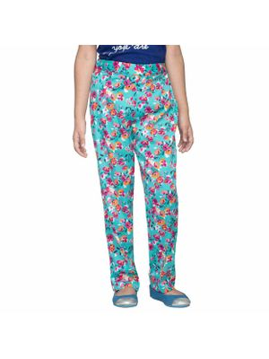 Girls Floral Printed Trousers
