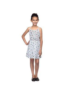 Girls Pine Apple Print Strap Dress