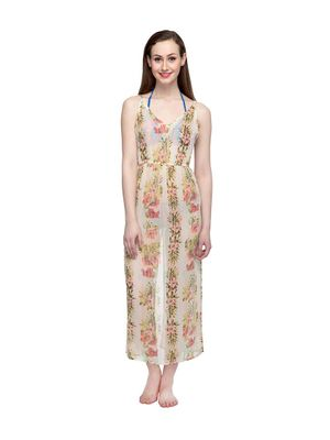 Floral Print Long Gown
