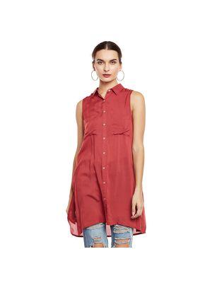 Sleeveless Long Shirt