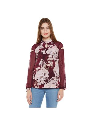 Multicolor Floral Long Sleeve Top