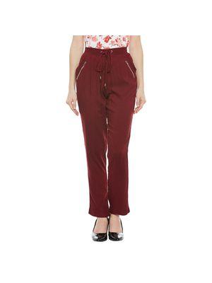 Maroon Elasticated Pants