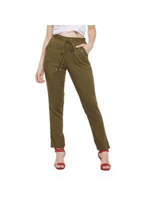 Olive Elasticated Pants