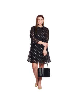 Foil Print Plus Size Dress