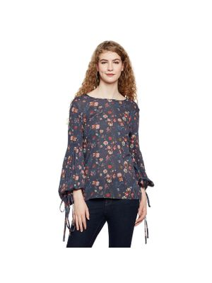 Floral Puff Sleeves Top
