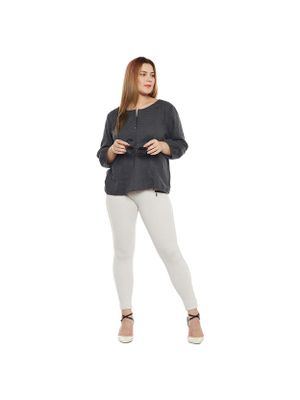 Grey Plus Size Top