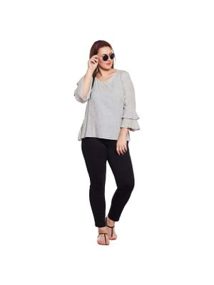 Bell Sleeve Plus Size Top