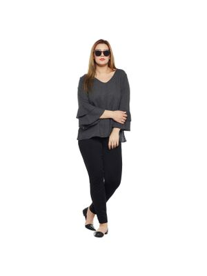 Bell Sleeves Plus Size Top