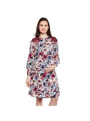 Floral Maternity Sleeve Dress
