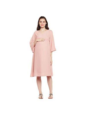 Maternity Flared Sleeve Dress