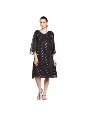 Heart Printed Maternity Midi Dress