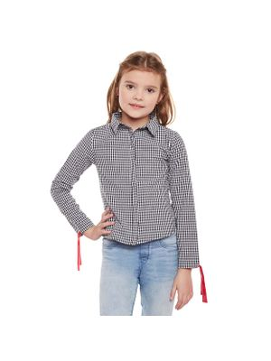 Girls Checked Knot Detail shirt