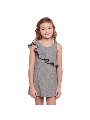 Girls Sleeveless Frill Detail Dress