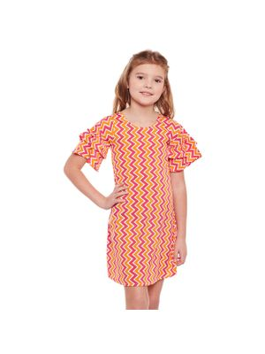Girls Geometric Stylised Sleeve Dress