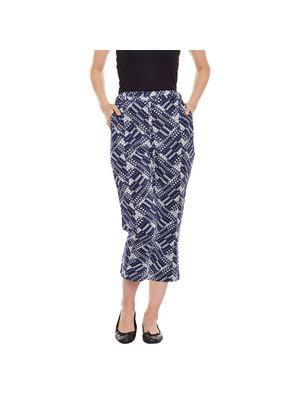 Blue Printed Pants