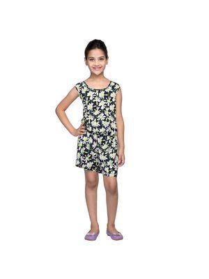Black Floral Girl's Dress