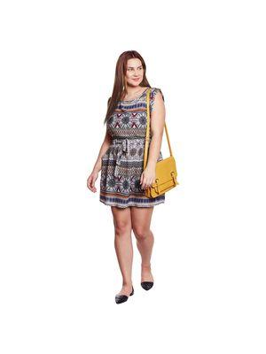 Floral Print Plus Size Dress