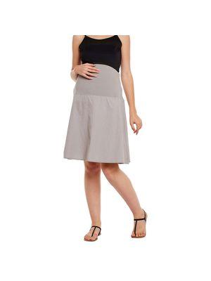 Grey Elasticated Maternity Skirt