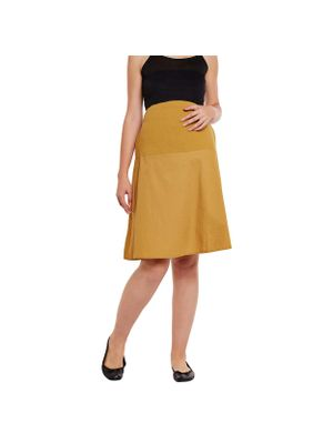 Mustard Elasticated Maternity Skirt