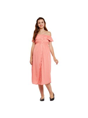 Polka Dots Maternity Dress