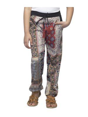 Girls Multicolour Printed Pants
