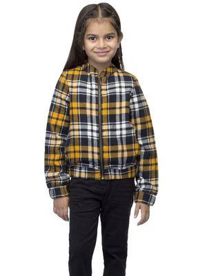 Girls Multi Check Jacket