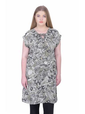 Women'S Plus Size Printed Tunic
