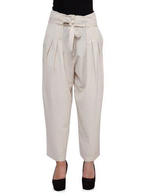 Women Linen Highwaist Pants