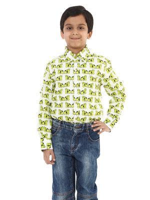 Boys Cotton Printed Shirt