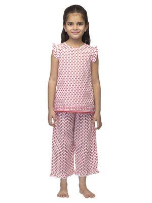 Girls Printed Nightwear Set