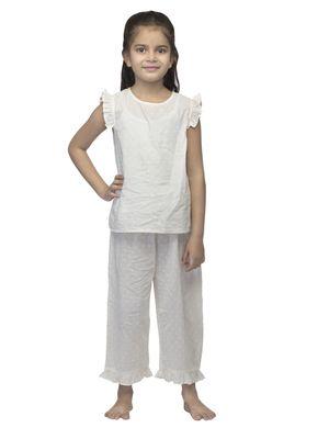 Girls Off-White Nightwear Set