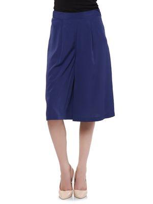 Women Blue Culottes