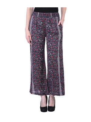 Multicolour Casual Floral Smocking Pants