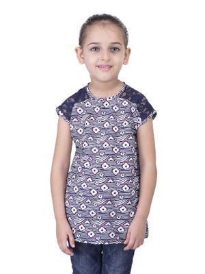 Girls floral lace top