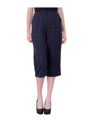 Women stylish check culottes