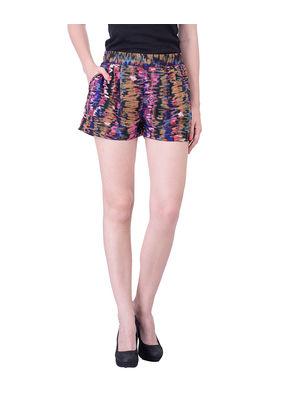 Women abstract print shorts