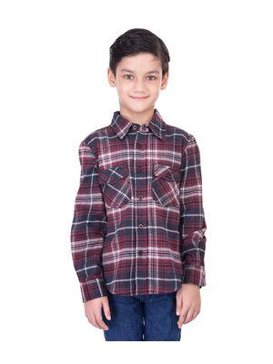 Boys multi cotton shirt