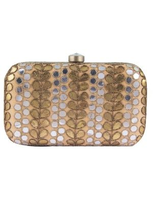 a11ba2edb11 Buy Gold Mirror Work Clutch Bag Online At Best Prices In India The ...
