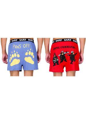 Paws Off!& Going Commando-Lazyone Men Boxer Combo