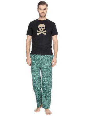Skull & Stronger at Night-Men PJ Set