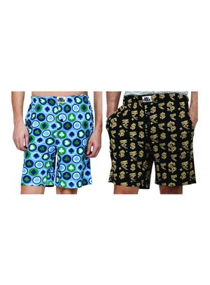 cards & dollar and rupee-Men Shorts Combo