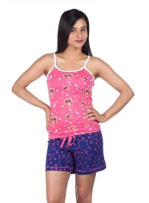 Wide Awake-Women Cami top Shorts Set