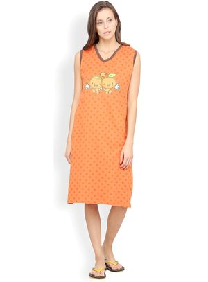 Nuteez Cute C  V-neck Nightdress for women
